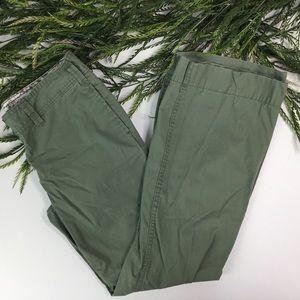 GAP Hadley green khaki spring pants size 10